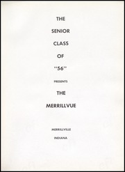 Page 5, 1956 Edition, Merrillville High School - Merrillvue Yearbook (Merrillville, IN) online yearbook collection