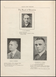 Page 6, 1934 Edition, Crown Point High School - Excalibur Yearbook (Crown Point, IN) online yearbook collection