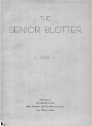 Page 7, 1935 Edition, New Albany High School - Senior Blotter Yearbook (New Albany, IN) online yearbook collection