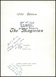 Page 5, 1950 Edition, Muncie Central High School - Magician Yearbook (Muncie, IN) online yearbook collection