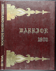 1970 Edition, Whiteland High School - Warrior Yearbook (Whiteland, IN)