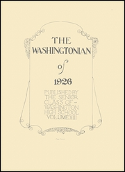 Page 13, 1926 Edition, Washington High School - Washingtonian Yearbook (Washington, IN) online yearbook collection