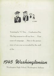 Page 5, 1945 Edition, Washington High School - Washingtonian Yearbook (Washington, IN) online yearbook collection