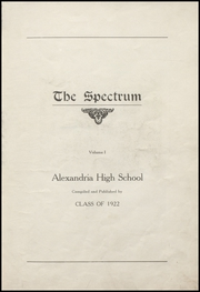 Page 11, 1922 Edition, Alexandria Monroe High School - Spectrum Yearbook (Alexandria, IN) online yearbook collection
