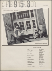 Page 5, 1953 Edition, Alexandria Monroe High School - Spectrum Yearbook (Alexandria, IN) online yearbook collection