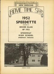 Page 5, 1952 Edition, Speedway High School - Speedette Yearbook (Speedway, IN) online yearbook collection