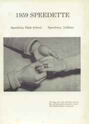 Page 5, 1959 Edition, Speedway High School - Speedette Yearbook (Speedway, IN) online yearbook collection
