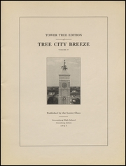 Page 3, 1927 Edition, Greensburg High School - Tower Tree Yearbook (Greensburg, IN) online yearbook collection