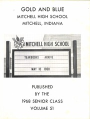 Page 7, 1968 Edition, Mitchell High School - Gold and Blue Yearbook (Mitchell, IN) online yearbook collection