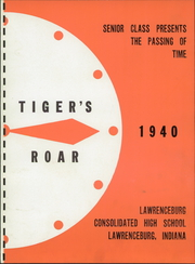 Page 9, 1940 Edition, Lawrenceburg High School - Orange and Black Yearbook (Lawrenceburg, IN) online yearbook collection