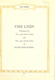 Page 5, 1926 Edition, Salem High School - Lyon Yearbook (Salem, IN) online yearbook collection