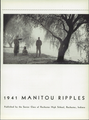 Page 9, 1941 Edition, Rochester High School - Manitou Ripples Yearbook (Rochester, IN) online yearbook collection