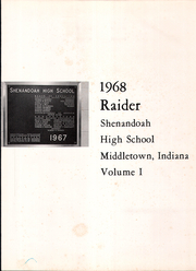 Page 5, 1968 Edition, Shenandoah High School - Raider Yearbook (Middletown, IN) online yearbook collection