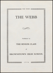 Page 5, 1934 Edition, Brownstown High School - Webb Yearbook (Brownstown, IN) online yearbook collection