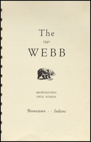 Page 5, 1941 Edition, Brownstown High School - Webb Yearbook (Brownstown, IN) online yearbook collection