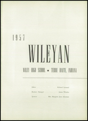 Page 5, 1957 Edition, Wiley High School - Wileyan Yearbook (Terre Haute, IN) online yearbook collection