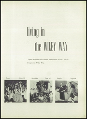 Page 7, 1957 Edition, Wiley High School - Wileyan Yearbook (Terre Haute, IN) online yearbook collection