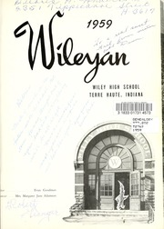 Page 5, 1959 Edition, Wiley High School - Wileyan Yearbook (Terre Haute, IN) online yearbook collection