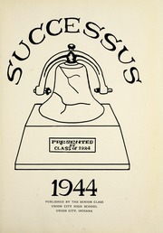Page 7, 1944 Edition, West Side High School - Successus Yearbook (Union City, IN) online yearbook collection