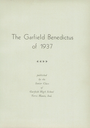 Page 7, 1937 Edition, Garfield High School - Benedictus Yearbook (Terre Haute, IN) online yearbook collection