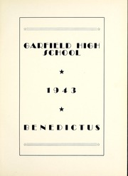 Page 9, 1943 Edition, Garfield High School - Benedictus Yearbook (Terre Haute, IN) online yearbook collection