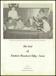 Page 9, 1957 Edition, Bloomfield High School - Owl Yearbook (Bloomfield, IN) online yearbook collection