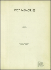 Page 5, 1957 Edition, Rockville High School - Saxum Yearbook (Rockville, IN) online yearbook collection