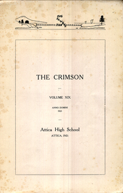 Page 7, 1925 Edition, Attica High School - Crimson Yearbook (Attica, IN) online yearbook collection