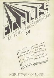 Page 7, 1954 Edition, Morristown High School - Booster Yearbook (Morristown, IN) online yearbook collection