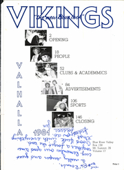Page 5, 1981 Edition, Blue River Valley High School - Valhalla Yearbook (Mount Summit, IN) online yearbook collection