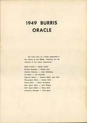 Page 5, 1949 Edition, Burris High School - Oracle Yearbook (Muncie, IN) online yearbook collection