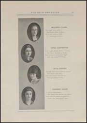 Page 15, 1920 Edition, Clinton High School - Old Gold and Black Yearbook (Clinton, IN) online yearbook collection