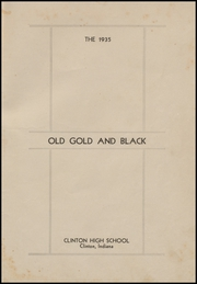 Page 5, 1935 Edition, Clinton High School - Old Gold and Black Yearbook (Clinton, IN) online yearbook collection