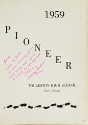 Page 5, 1959 Edition, Tolleston High School - Pioneer Yearbook (Gary, IN) online yearbook collection