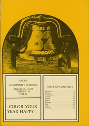 Page 5, 1982 Edition, Argos Community High School - Dragons Tale Yearbook (Argos, IN) online yearbook collection