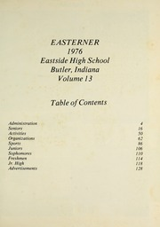 Page 5, 1976 Edition, Eastside High School - Easterner Yearbook (Butler, IN) online yearbook collection