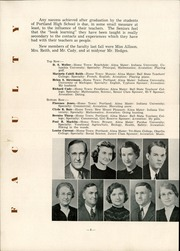 Page 12, 1939 Edition, Portland High School - Tifoon Yearbook (Portland, IN) online yearbook collection