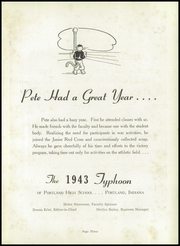 Page 7, 1943 Edition, Portland High School - Tifoon Yearbook (Portland, IN) online yearbook collection
