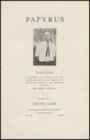 Page 3, 1933 Edition, Pendleton High School - Papyrus Yearbook (Pendleton, IN) online yearbook collection