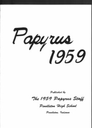 Page 4, 1959 Edition, Pendleton High School - Papyrus Yearbook (Pendleton, IN) online yearbook collection