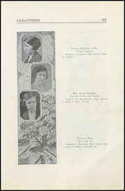 Page 13, 1923 Edition, Crothersville High School - Caruthers Yearbook (Crothersville, IN) online yearbook collection