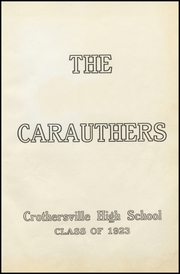Page 5, 1923 Edition, Crothersville High School - Caruthers Yearbook (Crothersville, IN) online yearbook collection