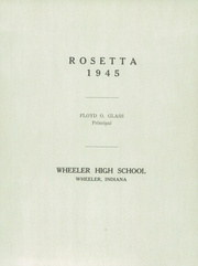 Page 5, 1945 Edition, Wheeler High School - Rosetta Yearbook (Valparaiso, IN) online yearbook collection