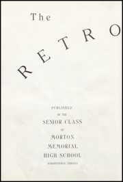 Page 12, 1936 Edition, Morton Memorial Schools - Retrospect Yearbook (Knightstown, IN) online yearbook collection