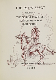 Page 5, 1939 Edition, Morton Memorial Schools - Retrospect Yearbook (Knightstown, IN) online yearbook collection