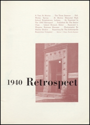 Page 7, 1940 Edition, Morton Memorial Schools - Retrospect Yearbook (Knightstown, IN) online yearbook collection