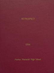 Morton Memorial Schools - Retrospect Yearbook (Knightstown, IN) online yearbook collection, 1954 Edition, Page 1