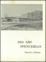 Page 5, 1958 Edition, Spencer High School - Spencerian Yearbook (Spencer, IN) online yearbook collection