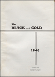 Page 5, 1940 Edition, Fairmount High School - Black and Gold Yearbook (Fairmount, IN) online yearbook collection