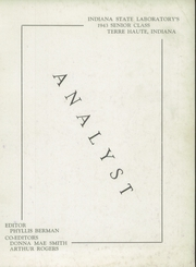 Page 3, 1943 Edition, State High School - Analyst Yearbook (Terre Haute, IN) online yearbook collection